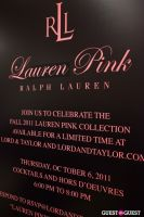 Lauren by Ralph Lauren and Glamour Magazine Celebrate Fall 2011 Lauren Pink Collection #69