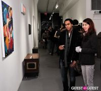 Retrospect exhibition opening at Charles Bank Gallery #98