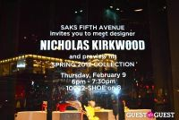Nicholas Kirkwood Personal Appearance At Saks Fifth Avenue #1