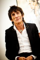 "The Rolling Stones' Ronnie Wood art exhibition ""Faces, Time and Places"" at Symbolic Gallery #62"