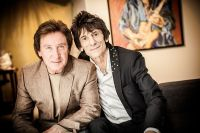 "The Rolling Stones' Ronnie Wood art exhibition ""Faces, Time and Places"" at Symbolic Gallery #119"