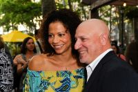 Gloria Ruben and Tom Colicchio at the Southwest Porch in Bryant Park.