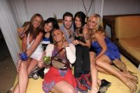 Patricia Marci - far right in blue dress