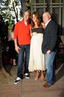 Robert Verde, Kelli Bensimon and Tom Colicchio at Southwest Porch in Bryant Park.