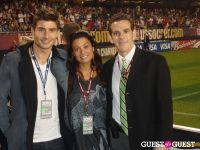 Stefan Dimitrov, Renata Merriam and US Soccer Press Officer Michael Kammarman