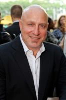 Celeb chef Tom Colicchio, co-host of opening party at the Southwest Porch in Bryant Park.