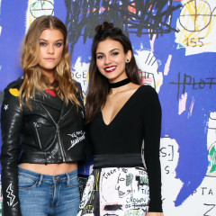 Nina Agdal Joins Alice + Olivia For A Basquiat Themed Collection Launch