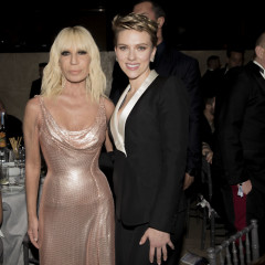 Donatella Versace & Scarlett Johansson Are Honored At amfAR's Annual Gala