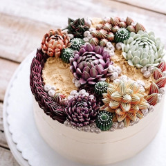 Succulent Cakes Are Summer's Coolest Wedding Trend
