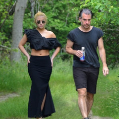 Lady Gaga Went Hiking In Heels In The Hamptons