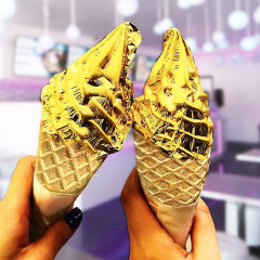 24-Karat Gold Ice Cream Cones Are A Thing Now