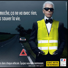 Karl Lagerfeld Cares About Your Safety
