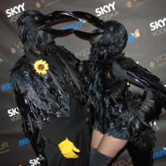 Heidi Klum And Seal Dress Up As Black Crows This Year While Paris Hilton Does A White Tooth Fairy