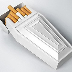 The Best Guests Come Bearing Gifts...Coffin Shaped Cigarette Box