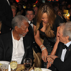 Clint Eastwood And Morgan Freeman Blinded By Mariah's Bling