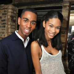 Chanel Iman Spins As Leighton Meester Parties For H&M