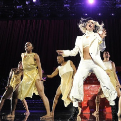 Super Hero Lady Gaga Takes The Stage At Robin Hood Last Night, But Where Are The Other Super Ladies?