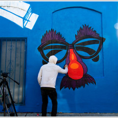 Watch Chase In Action: The Street Artist Paints A Block Of Venice Boardwalk