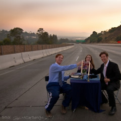 Mini Carmageddon Pop-Up Dinner Party & Other Stunts On The 405
