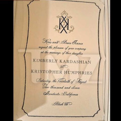 A Look At Kim Kardashian & Kristopher's Kwedding Kinvitation