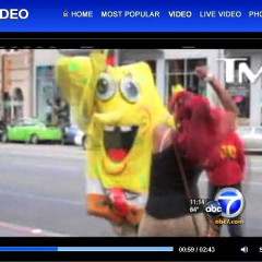 Isn't It Weird How This Absurd Local News Report On A Hollywood Blvd SpongeBob Beatdown By Two Women Is NOT A Joke?