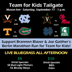 You're Invited: Team for Kids Tailgate at Mason Inn