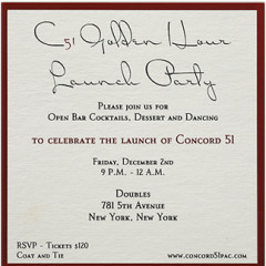 Today's Newsletter Giveaway: Two Tickets To The Concord 51 Launch Party At Doubles On December 2nd ($240 Value)!