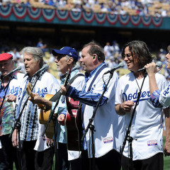 The Boys Of Summer: Beach Boys, L.A. Dodgers Celebrate 50th Anniversaries On Opening Day