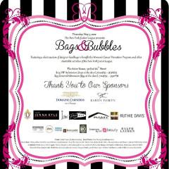 You're Invited: New York Junior League's Bags & Bubbles Silent Auction Fundraiser!