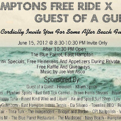 Win 2 VIP Tickets To The Hamptons Free Ride And GofG Party At The Blue Parrot!