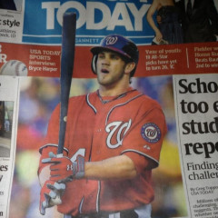 Bryce Harper On The Cover Of USA Today