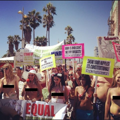 Rack City, Bitch: Go Topless Day Marches Through Venice (NSFW)