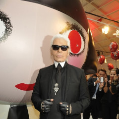 Karl Lagerfeld Hosts Shu Uemura Bash In Paris