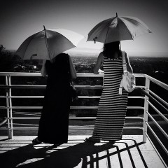 Photo Of The Day: Parasol Weather At The Getty