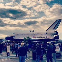 Photo Of The Day: Space Shuttle Endeavour Parks In The Staples Lot