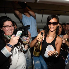 Eavesdropping In: Rihanna Showers Bloggers With Champagne, Diamonds On 777 Tour Jet; Hostess Shuts Down; Craigslist Baby Adoption;