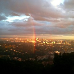Photo Of The Day: Yesterday's Insane Rainbow(s) Over L.A.