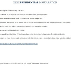 Ticketmaster Drops The Ball On Inauguration Tickets