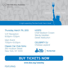You're Invited: sweet: New York Benefiting The Doe Fund's