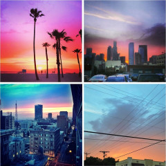 Instagram Roundup: The Best Of Last Night's Rainbow Sunset Over L.A.