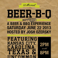You're Invited: The 1st Annual Beer-B-Q This Saturday!