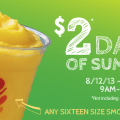 Stay Cool With $2 Days Of Summer At Jamba Juice This Week!