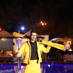 Veuve Clicquot Celebrates 'Clicquot In The Snow' Poolside At W Westwood
