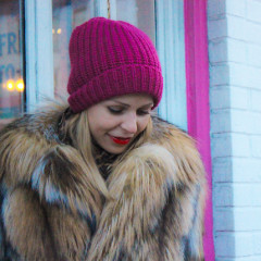 DC Street Style: The Season Of Fur, Neon Beanies, And Bold Lips!