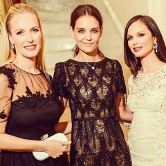 Katie Holmes Joins Georgina Chapman & Keren Craig For A Midnight Supper At The St. Regis