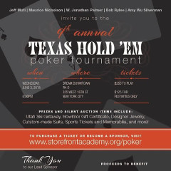 You're Invited! Storefront Academy Harlem's 9th Annual Texas Hold 'Em Poker Tournament