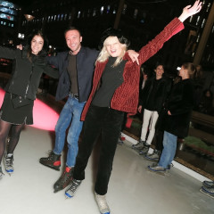 Julia Restoin Roitfeld & Tom van Dorpe Open The Rink At The Standard