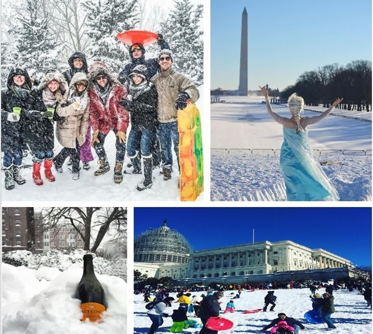 Top 10 Social Media Images Of Snowzilla DC 2016