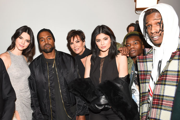 Kanye West Supports Kendall & Kylie At The Launch Of Their New Line In NYC