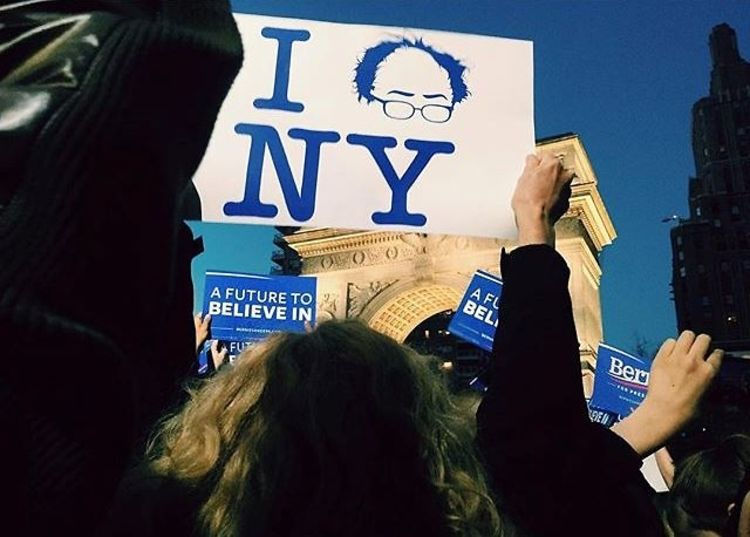 Instagram Round Up: Bernie Sanders Takes Over Washington Square Park